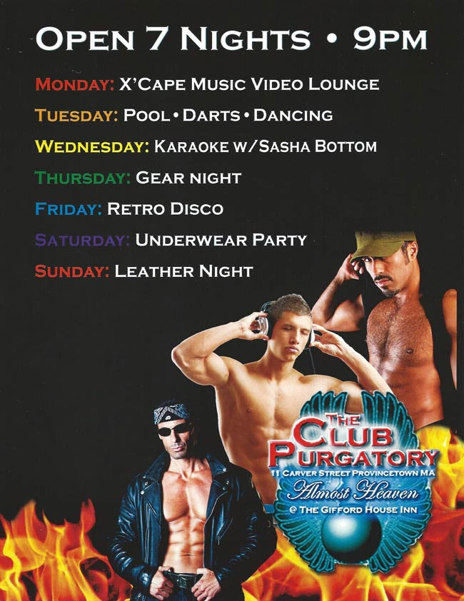 Club Purgatory Schedule